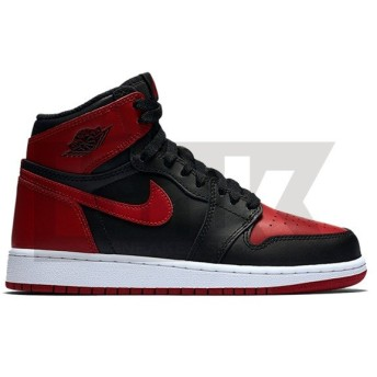 NIKE AIR JORDAN 1 RETRO HIGH OG GS BANNED 2016 BLACK/VARSITY RED-WHITE