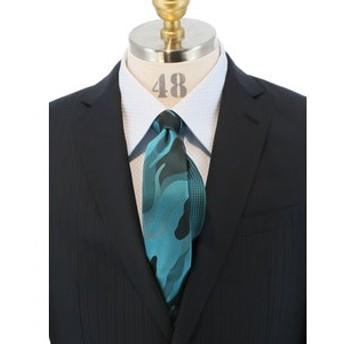 【TAKA-Q:スーツ・ネクタイ】カモフラージュ×バスケット ツインナローネクタイ6.5cm幅