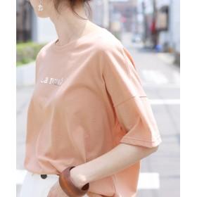【11%OFF】 レカ シルバーロゴTシャツ レディース ピンク FREE 【reca】 【セール開催中】