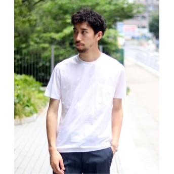 EDIFICE CITA / チータ クルーネック ポケット Tシャツ ホワイト 50