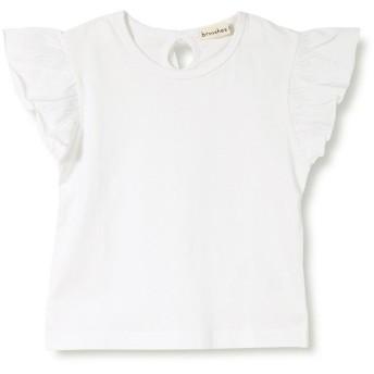 ブランシェス 袖フリル半袖Tシャツ(90~150cm) レディース オフホワイト 130cm 【branshes】