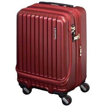 カバンのセレクション フリクエンター マーリエ スーツケース 機内持ち込み Sサイズ フロントオープン ポケット 拡張 静音 軽量 34L 1 282 ユニセックス ワイン フリー 【Bag & Luggage SELECTION】