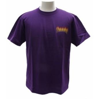 THRASHER FLAME 半袖Tシャツ TH81227PPL (Men's)