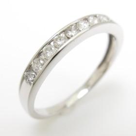 【リメイク】K18WG ハーフエタニティ ダイヤモンドリング