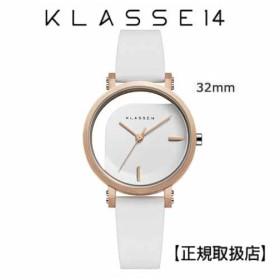 クラス14   KLASSE14 腕時計 IMPERFECT ANGLE White 32mm ホワイトダイヤル (一部透過) WIM19RG009W  ステンレスメッシュベルト付き