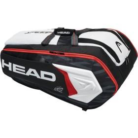 HEAD(ヘッド) DJOKOVIC 12R MONSTERCOMBI ブラック×ホワイト テニス用ラケットバッグ(12本入) 283008 BK/WH