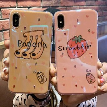 2019新作スマホケース iPhoneXs iPhoneX iPhone XR iPhoneXs MAXケース 全機種対応スマホケース可愛いバナナ柄カップルiPhoneケースKJS