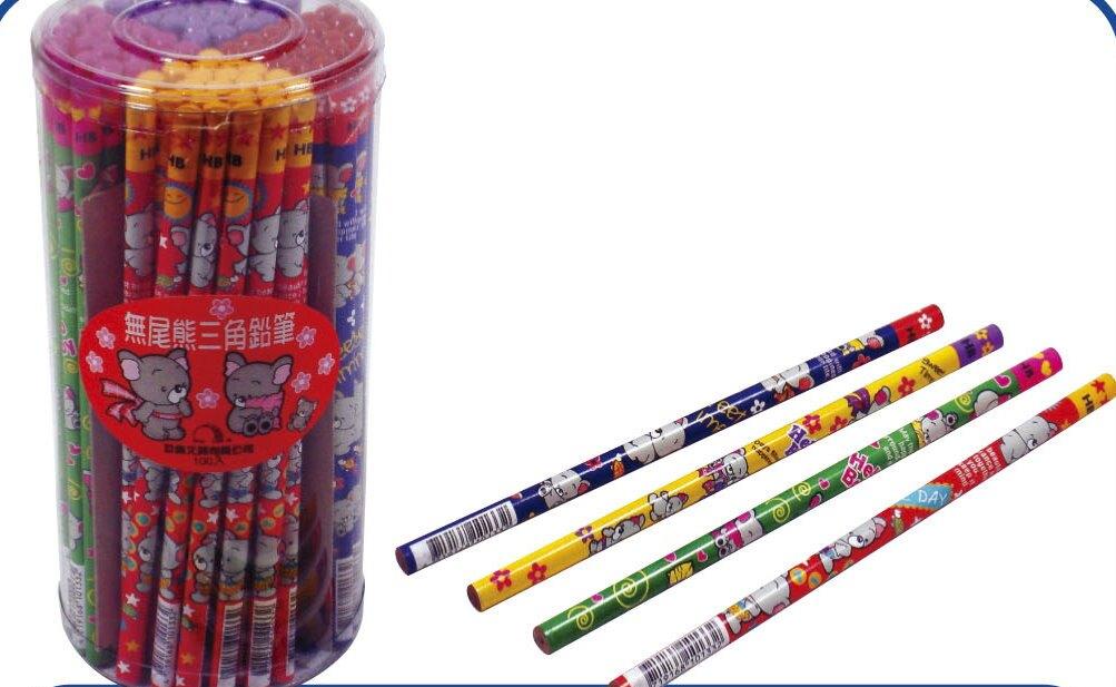 【巨倫】A-10133 無尾熊三角木鉛筆 (100支/筒)