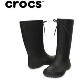 クロックス レインブーツ レディース crocs freesail rain boot w クロックス フリーセイル レイン ブーツ ウィメン 203541-001 crocs run
