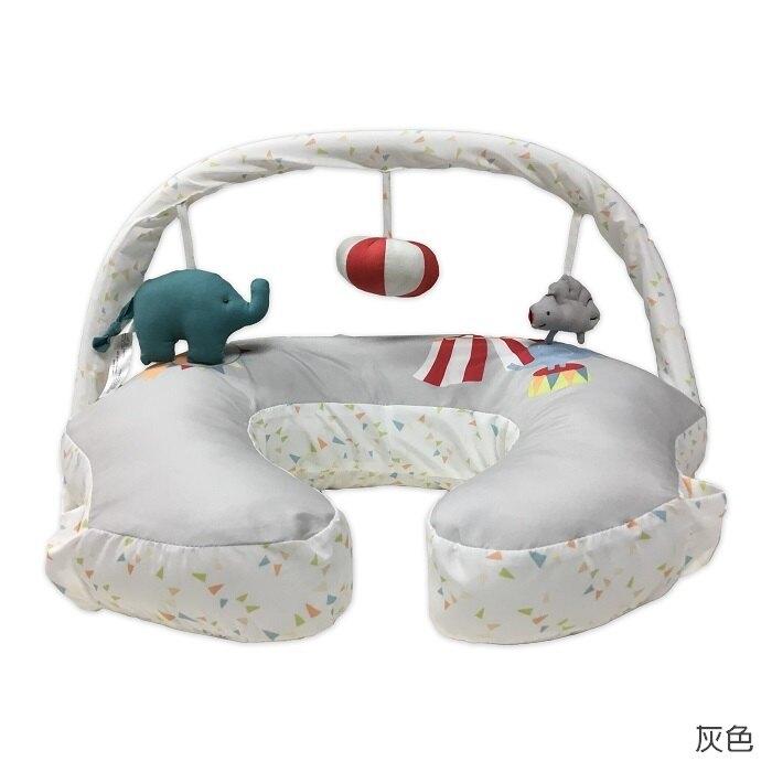 Comfort & Harmony 哺乳/定型枕+玩偶架(灰底大象款)