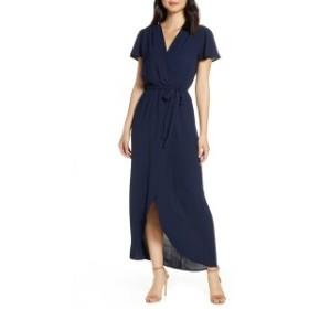 フライシュ レディース ワンピース トップス Fraiche by J High/Low Wrap Dress Cobalt