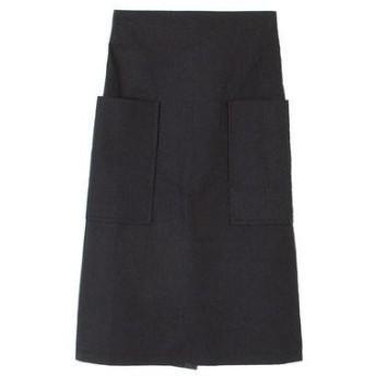 ティティベイト titivate ビッグポケットバックファスナー台形スカート (ブラック)