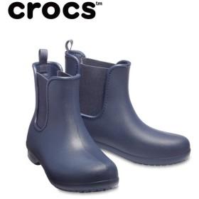 クロックス レインブーツ レディース crocs freesail chelsea boot w クロックス フリーセイル チェルシー ブーツ ウィメン 204630-463 crocs run