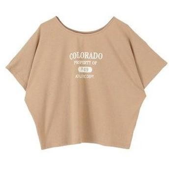 ティティベイト titivate ロゴプリントTシャツ (ライトベージュ)