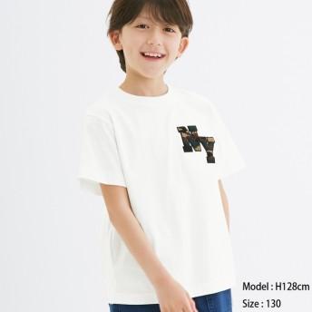 (GU)BOYSサガラエンブロイダリーT(半袖)(NY) OFF WHITE 140