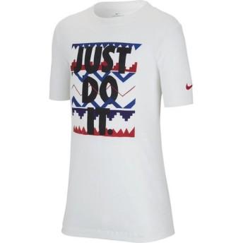 [NIKE]ナイキ ジュニアトレーニング YTH JDI プリント Tシャツ (CI9618)(100) ホワイト/(ブラック)[取寄商品]