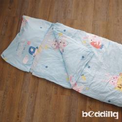 BEDDING-幼稚園必備-兒童冬夏兩用鋪棉睡袋-可愛萌兔-藍
