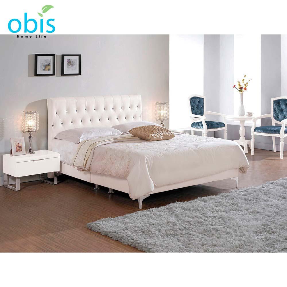 伊果5尺雙人床(白色皮)