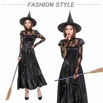 魔女 巫女コスプレ衣装 大人 女の子  コスチューム  悪魔 仮装 ハロウィン 公演服変装 万聖節衣装