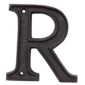 アルミアルファベット R アルミニウム D2 H10.5cm