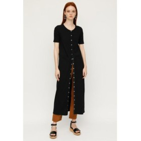 (SLY/スライ)FRONT BUTTON CUT MAXI OP/レディース BLK