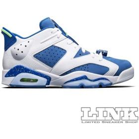 NIKE AIR JORDAN 6 RETRO LOW WHITE/GHOST GREEN-INSIGNIA BLUE【価格修正】