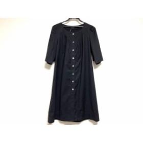 ニジュウサンク 23区 ワンピース サイズ38 M レディース 黒 シャツワンピ【中古】20190705