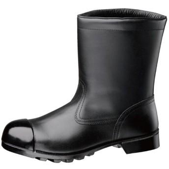 ミドリ安全 重作業用 ワイド鋼製先芯 ラバー1層底 半長靴 安全靴 W540 CAP ブラック