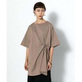 SENSE OF PLACE(センスオブプレイス) トップス Tシャツ・カットソー ツイストチュニックTシャツ(5分袖)