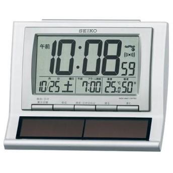 SEIKO セイコー 置き時計 ハイブリッドソーラー SQ751W 電波クロック