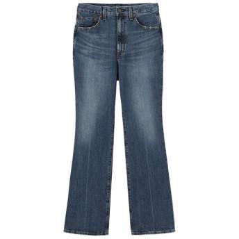 (GU)セミフレアジーンズ(股下72cm) BLUE M