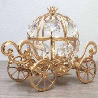 スワロフスキーストーン付き 馬車/01654 キラキラ綺麗な置物 オブジェ インテリア雑貨