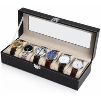 腕時計 時計 収納ケース 6本用 合成皮革 ウォッチケース ディスプレイ 収納ボックス コレクションケース[送料無料(一部地域を除く)]