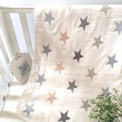 【優貝選】五角星星多功能純綿柔軟嬰幼兒六層紗布巾空調毯包巾