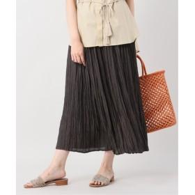 B.C STOCK ジャガードプリーツスカート◆ ブラウン フリー