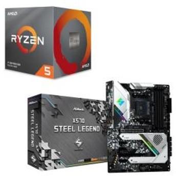 AMD Ryzen 5 3600X BOX + ASRock X570 Steel Legend セット