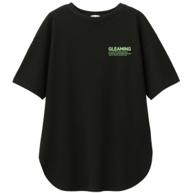 GU ジーユー オーバーサイズロゴT 5分袖