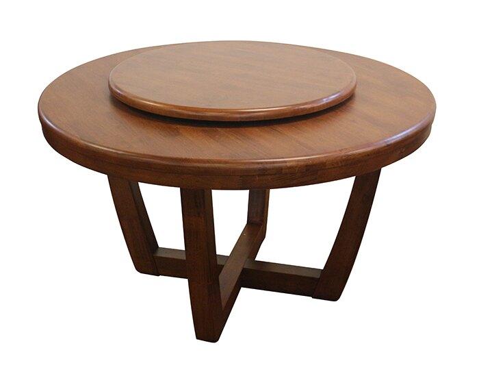 【尚品家具】819-19 拉夫爾州4.2尺胡桃橡木實木圓桌/居家團圓桌/圍爐桌/飯店桌/餐館桌