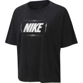 [NIKE]ナイキ レディーストレーニング ウィメンズ ドライ OVERSZD 半袖GXシャツ (BV4495)(010) ブラック/(ホワイト)[取寄商品]