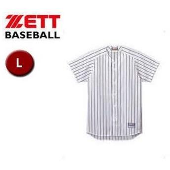 ZETT/ゼット  BU521-1129 フルオープン ストライプメッシュシャツ 【L】 (ホワイト×ネイビー)