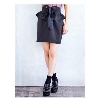 ロジータ ROJITA コルセットレースアップタイトスカート (ブラック)