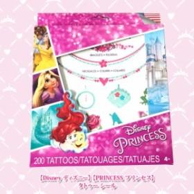 メール便送料無料 【Disney ディズニー】【PRINCESS プリンセス】T28230 タトゥー シール 5シート 200ピース