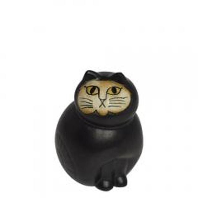 【5%OFFクーポン利用可能】リサ・ラーソン ねこ置物(リサラーソン)キャットミア ミニ(小) ブラック 動物 LisaLarson(Lisa Larson)Mia Cat(Cats Mia)Mini 1150101猫・ネコ・北欧インテリア・陶器【ク