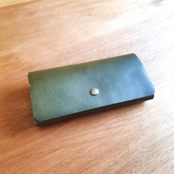 見開き型三ツ折り長財布