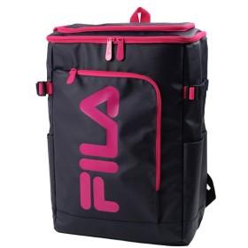 カバンのセレクション フィラ FILA リュック レディース メンズ スクエア 30L 通学 大容量 おしゃれ 女子 ピンク 高校 新作 7577 ユニセックス ネイビー系2 フリー 【Bag & Luggage SELECTION】
