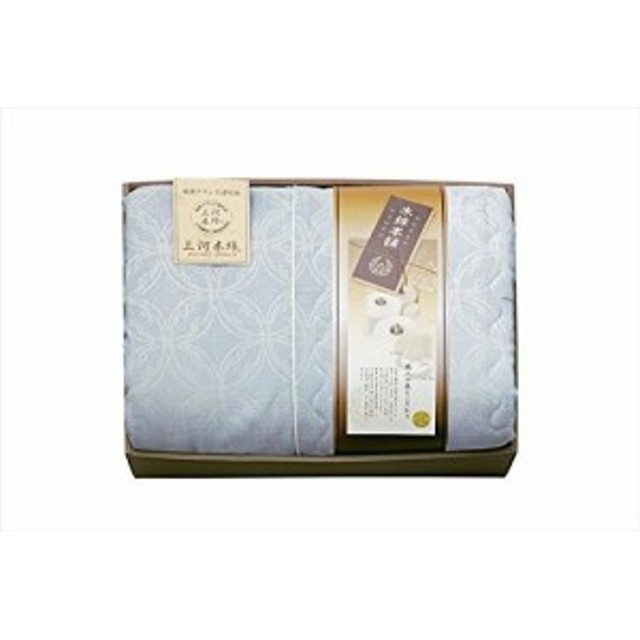 三河木綿 二重織 綿紗 肌布団 (ブルー) MH14125BL