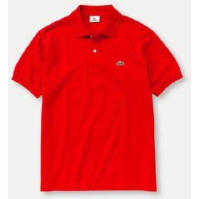【正規品】LACOSTE(ラコステ)半袖リブカラーシャツ ルージユ L1212X 256