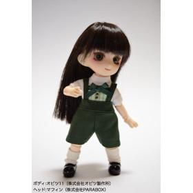 オビツ11用・緑×金サロペット