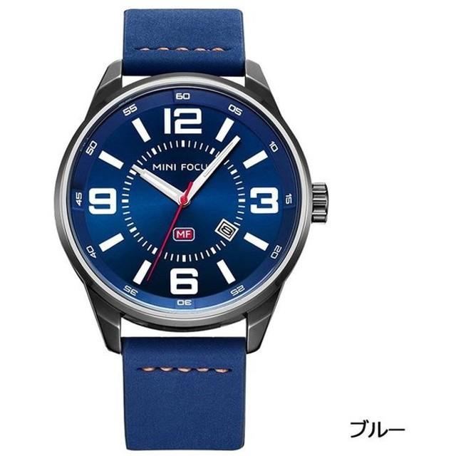 finest selection ebe36 8a429 MINI FOCUS カジュアル 腕時計 メンズ 革 ベルト シンプル ...