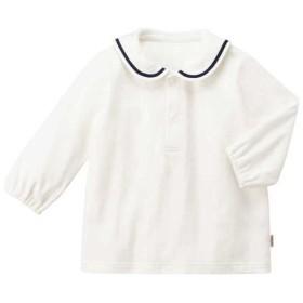 [マルイ] Tシャツ(70-90cm / 襟付き白 / セーラーカラー / 男の子・女の子)/ミキハウス ホットビスケッツ(MIKIHOUSE HOT BISCUITS)